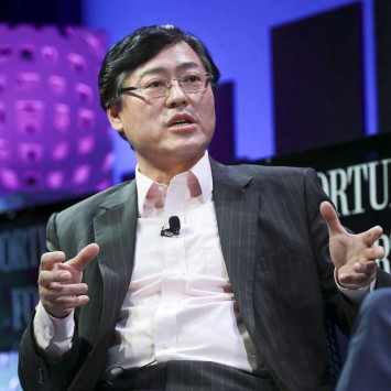 Chairman and CEO of Lenovo Yang participates in a panel at the 2015 Fortune Global Forum in San Francisco