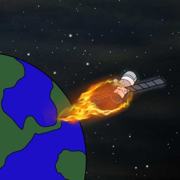 Plunging towards Earth
