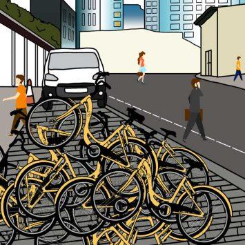 Bike-sharers apply the brakes