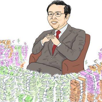 Leaving his money lying around