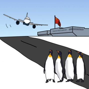 Ice on the runway